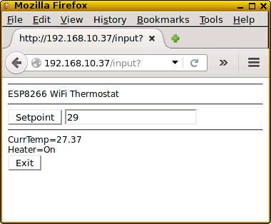 DS18B20 Wifi Thermostat - ESP8266 BASIC